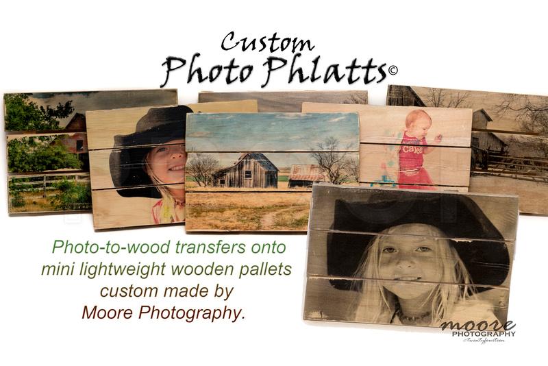Custom Photo Phlatts, Photo to Wood Transfer